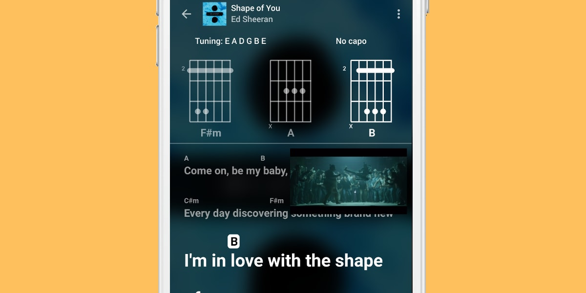Chorus Guitar Learning App Includes Chords And Lyrics