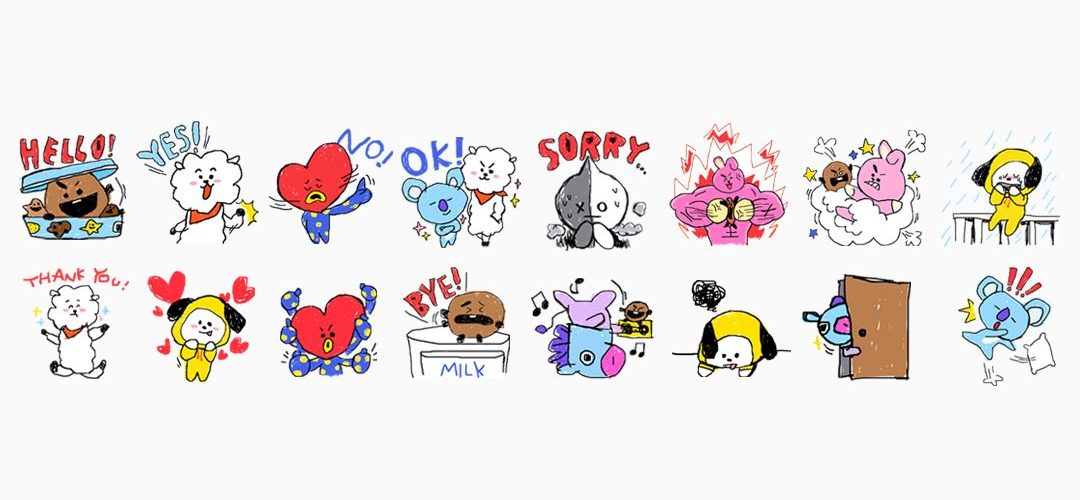 K-Pop band BTS team up with Line for characters and merch