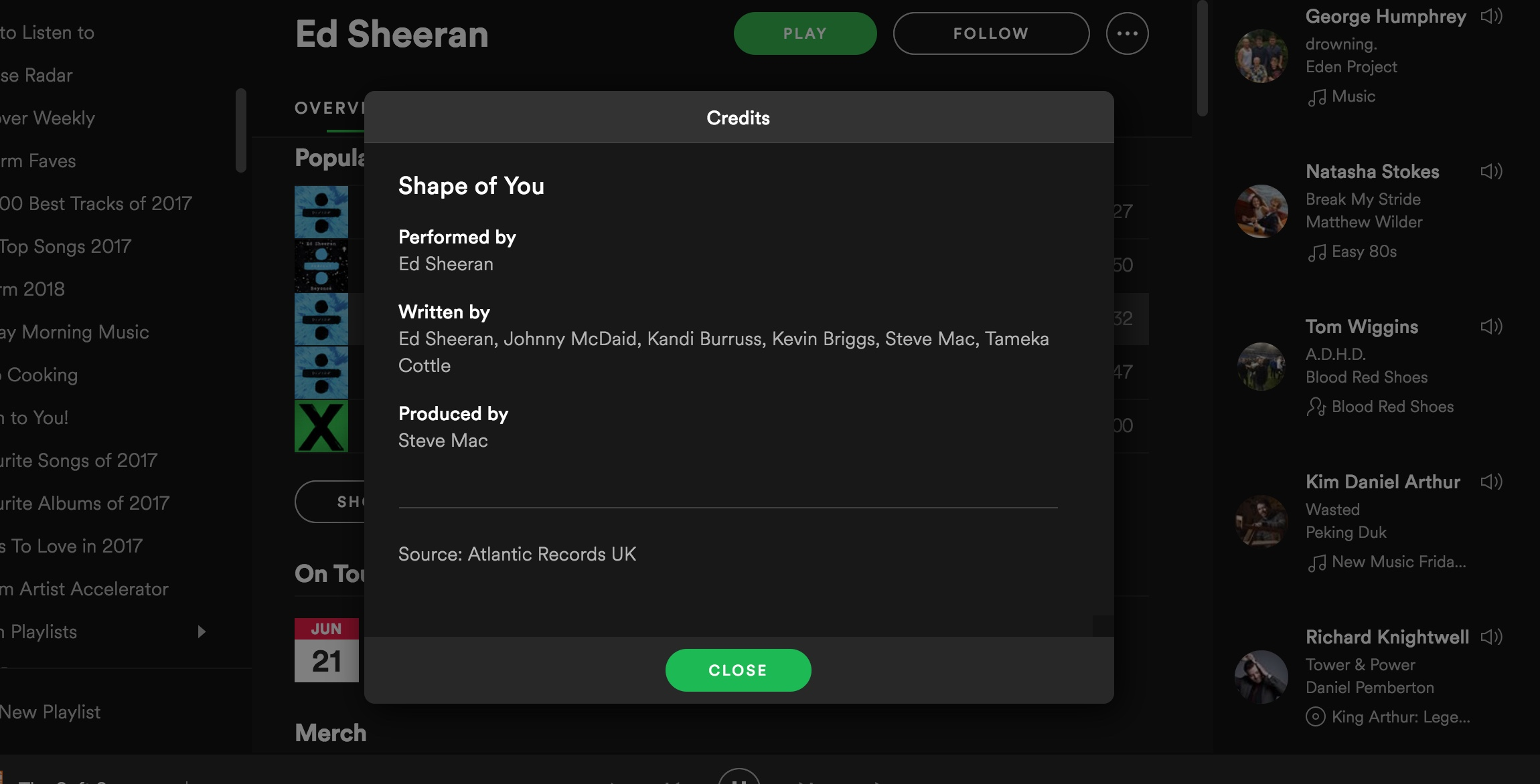 Spotify adds songwriting and production credits to its