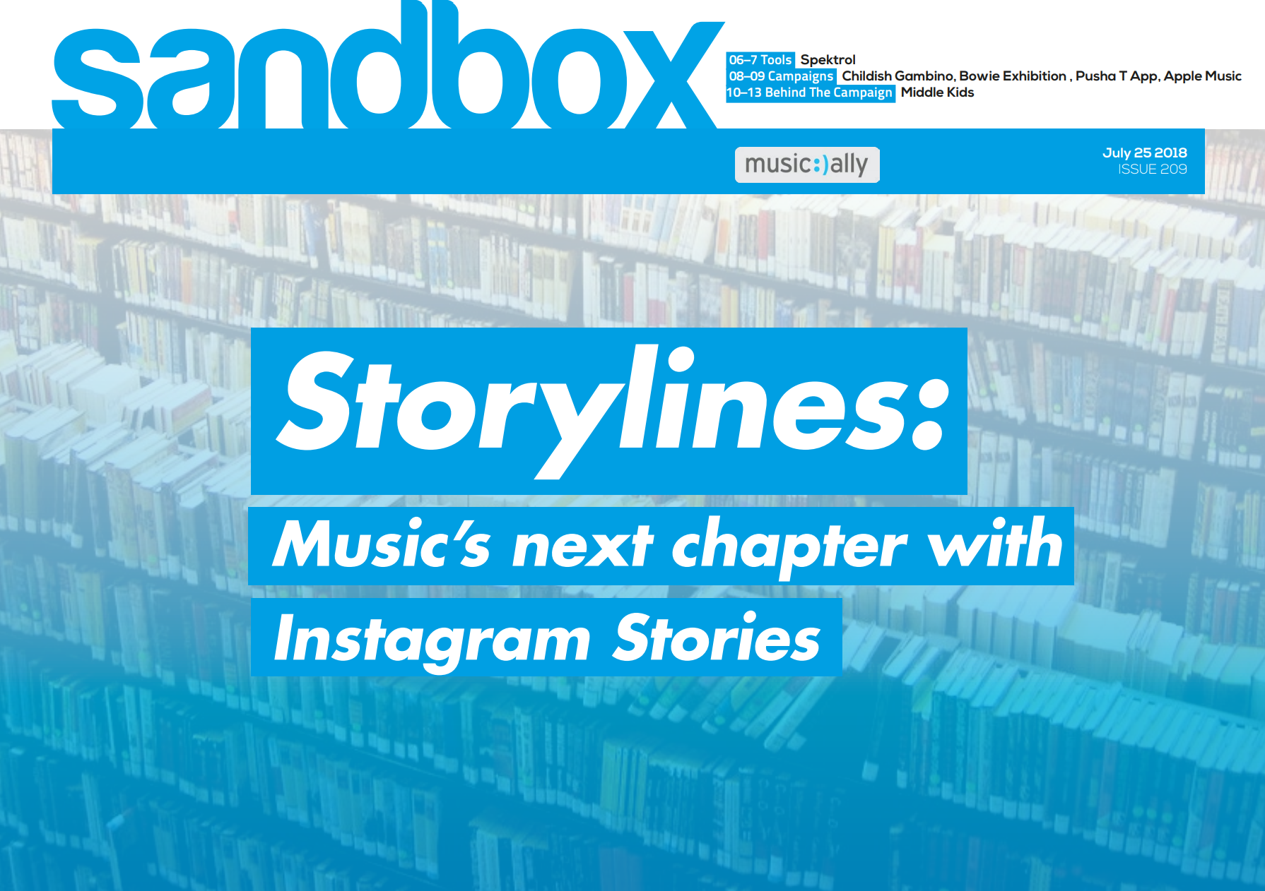Sandbox Issue 209: Storylines, Music's next chapter with