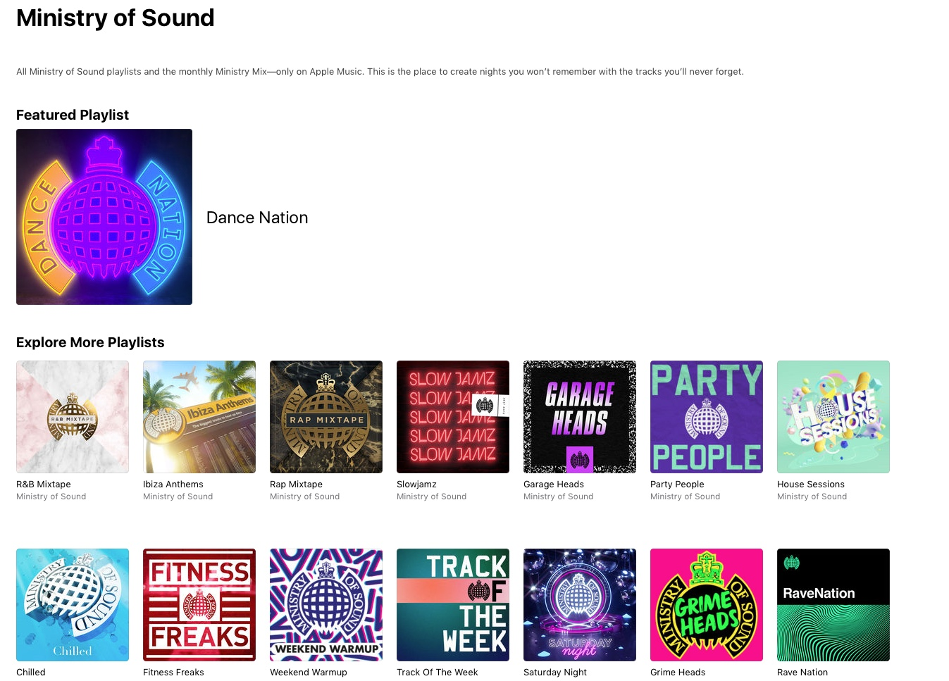 Exclusive Apple deal sees Ministry of Sound de-list (but not