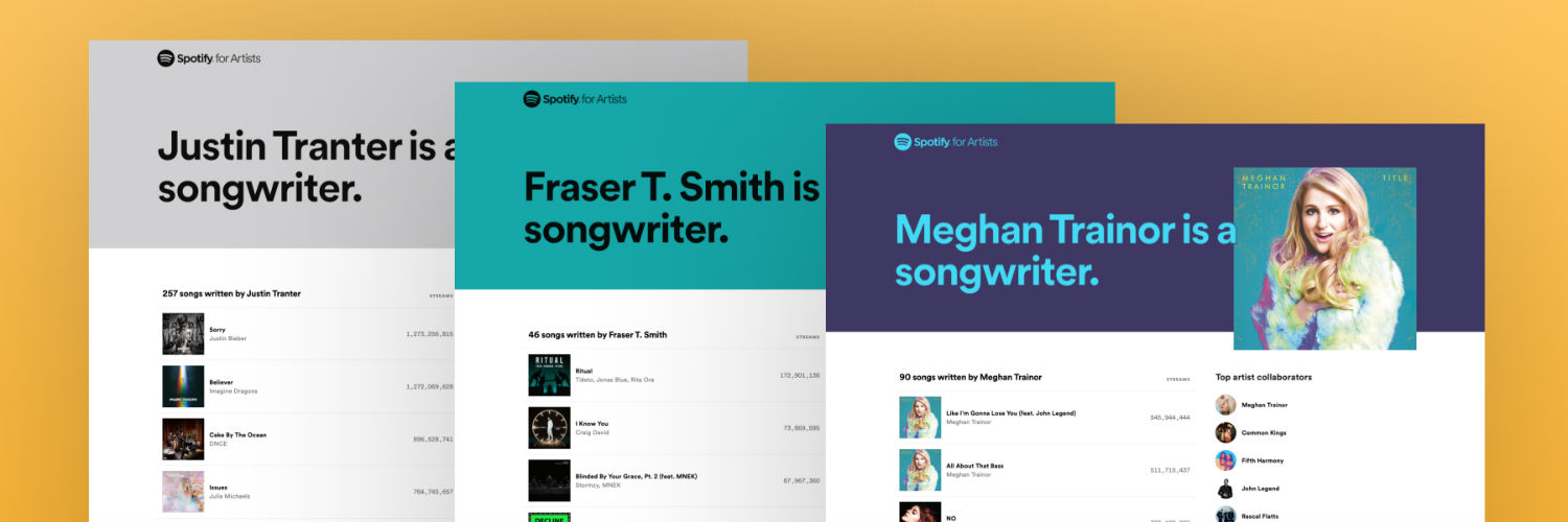 Spotify launches 'songwriter pages' feature in beta