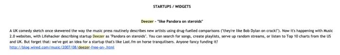 Deezer first bulletin story